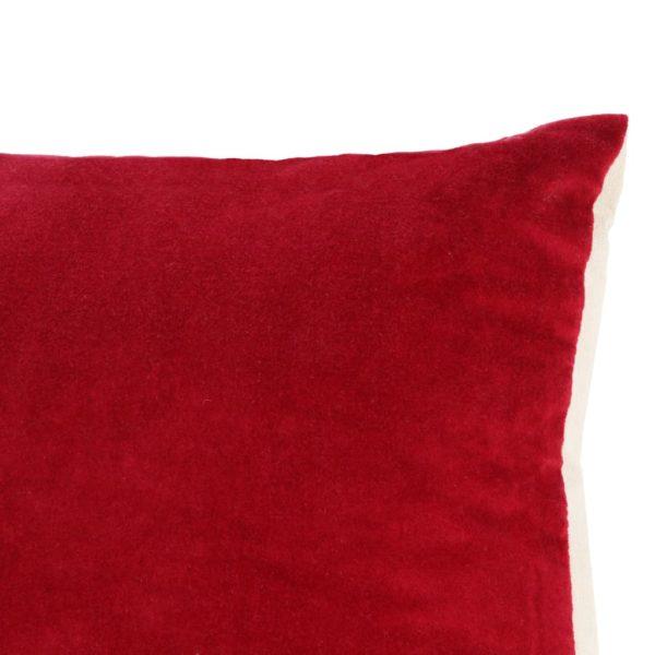 Kissen Baumwollsamt 2 Stk. 45×45 cm Rot