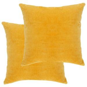Kissen Baumwollsamt 2 Stk. 45×45 cm Gelb