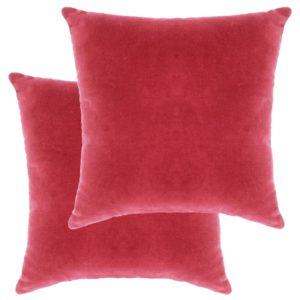 Kissen Baumwollsamt 2 Stk. 45×45 cm Rosa