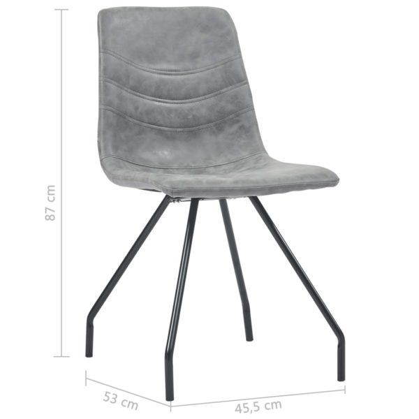 Esszimmerstühle 2 Stk. Dunkelgrau Kunstleder