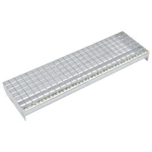 Treppenstufen 4 Stk. Pressroste Verzinkter Stahl 600 x 240 mm