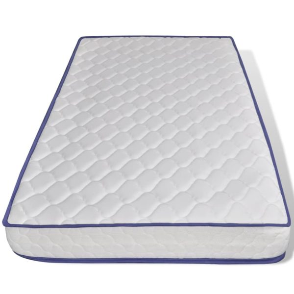Bett mit Memory-Schaum-Matratze Braun Stoff 90×200 cm
