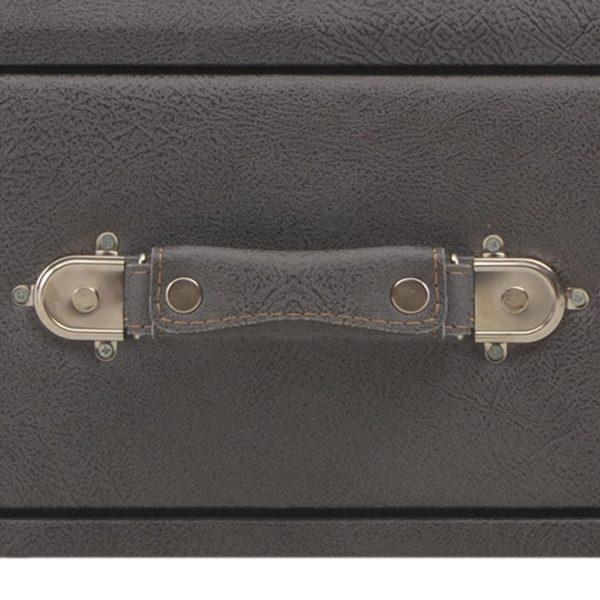 Bank mit Schubladen 80 cm Grau Kunstleder