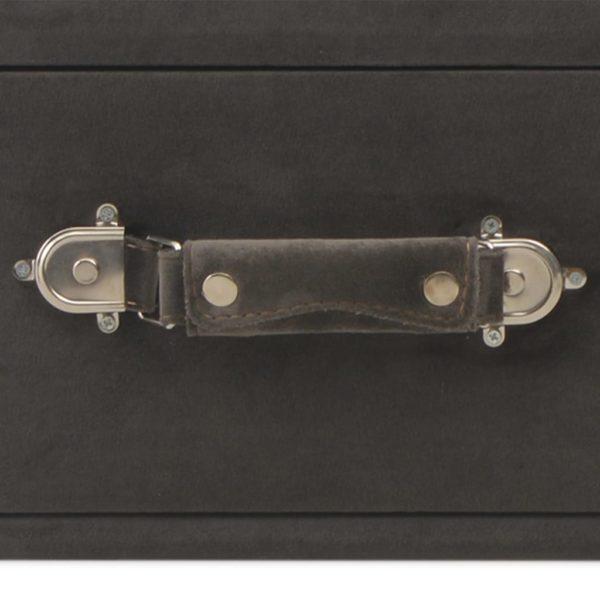 Bank mit Schubladen 80 cm Grau Samt