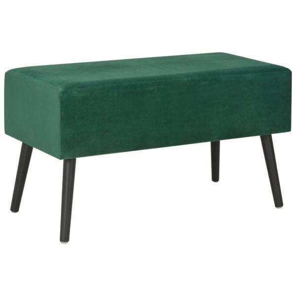 Bank mit Schubladen 80 cm Grün Samt