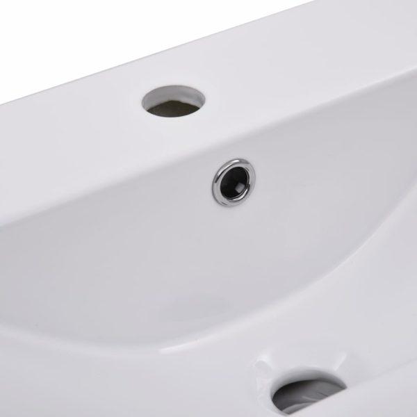 Einbauwaschbecken 61×39,5×18,5 cm Keramik Weiß