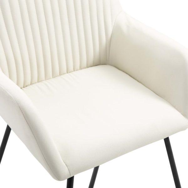 Esszimmerstühle 6 Stk. Creme Stoff