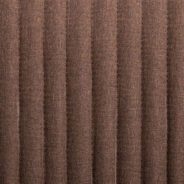 Esszimmerstühle 6 Stk. Braun Stoff