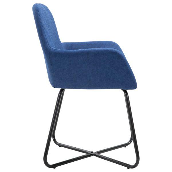 Esszimmerstühle 4 Stk. Blau Stoff