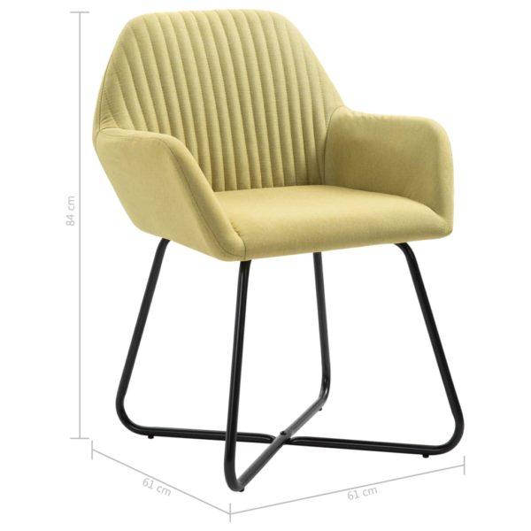 Esszimmerstühle 4 Stk. Grün Stoff