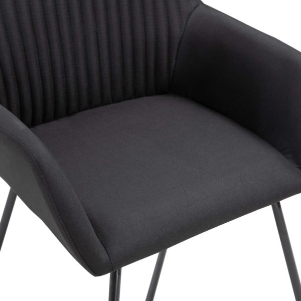 Esszimmerstühle 4 Stk. Schwarz Stoff
