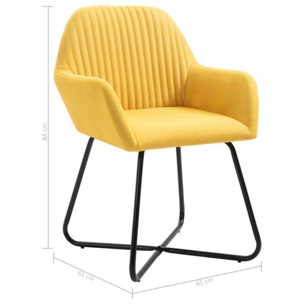 Esszimmerstühle 4 Stk. Gelb Stoff
