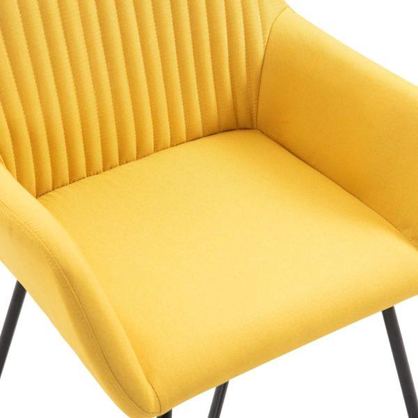 Esszimmerstühle 6 Stk. Gelb Stoff