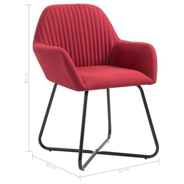 Esszimmerstühle 4 Stk. Weinrot Stoff