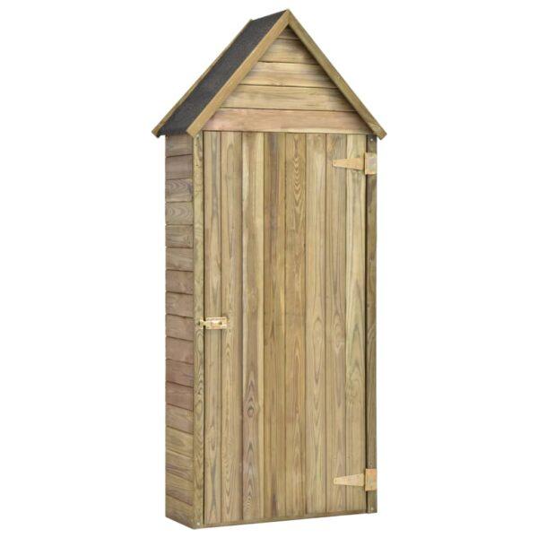 Garten-Geräteschuppen mit Tür 77x37x178 cm Kiefer Imprägniert