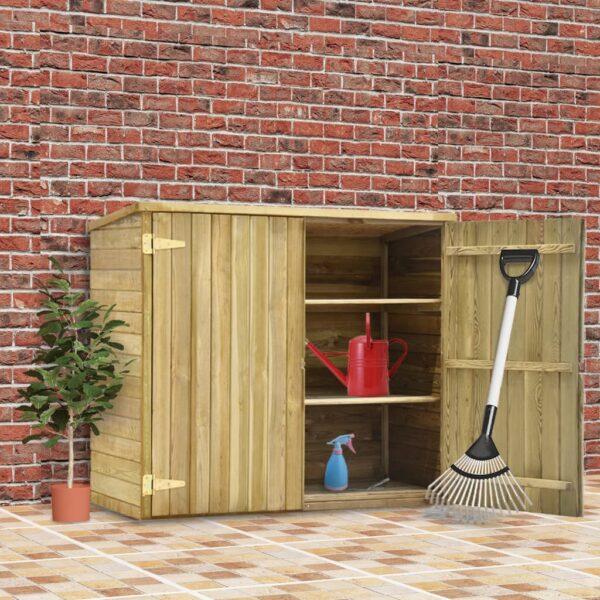 Garten-Geräteschuppen 135x60x123 cm Kiefernholz Imprägniert