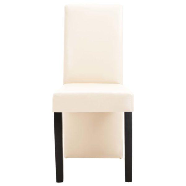 Esszimmerstühle 6 Stk. Creme Kunstleder