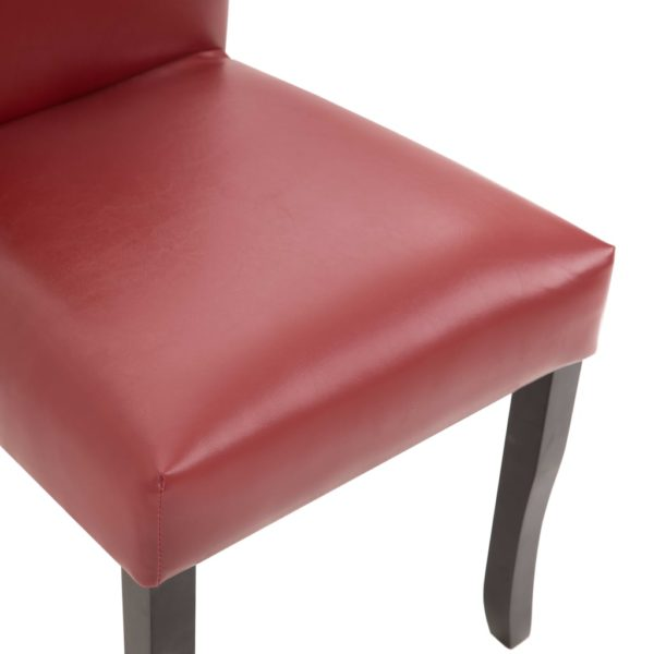 Esszimmerstühle 4 Stk. Weinrot Kunstleder