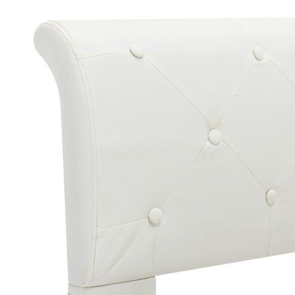 Bettgestell Weiß Kunstleder 100×200 cm