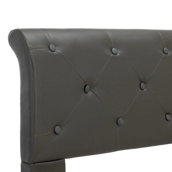 Bettgestell Grau Kunstleder 100 × 200 cm