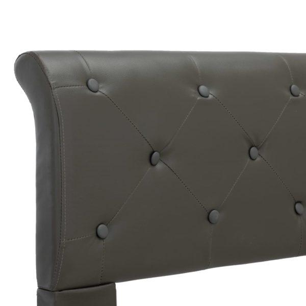 Bettgestell Grau Kunstleder 160 x 200 cm