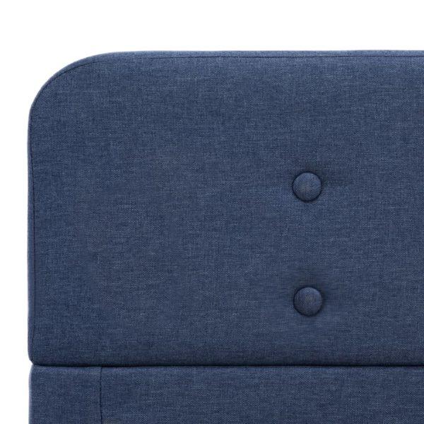 Bettgestell Blau Stoff 180×200 cm
