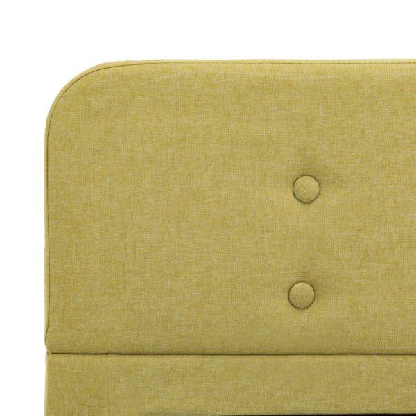 Bettgestell Grün Stoff 140×200 cm