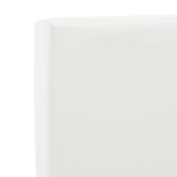 Bettgestell mit Schubladen Weiß Kunstleder 140×200 cm