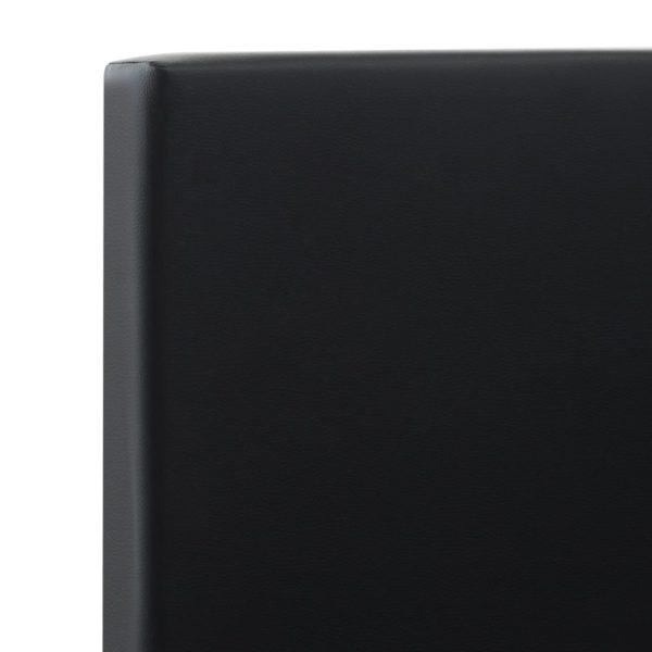 Bettgestell mit Schubladen Schwarz Kunstleder 140×200 cm
