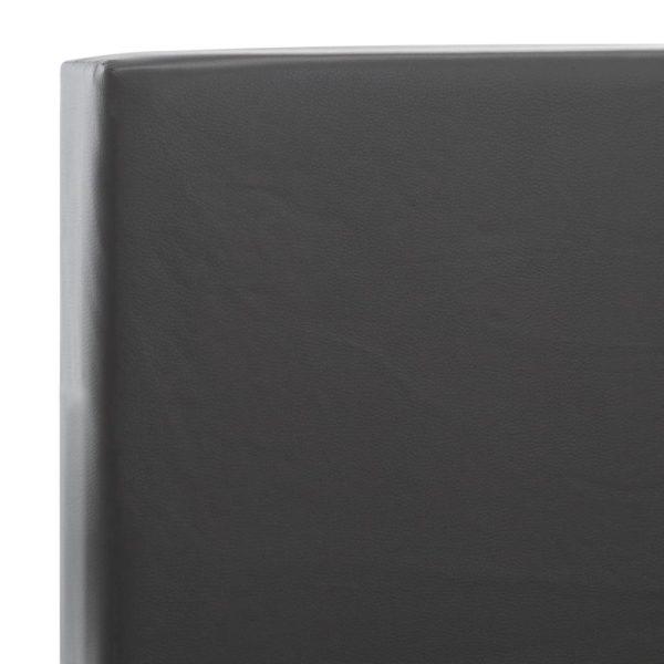 Bettgestell mit Schubladen Anthrazit Kunstleder 140×200 cm