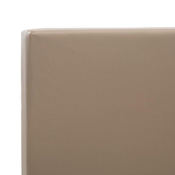 Bettgestell Schubladen Cappuccino-Braun Kunstleder 140x200cm