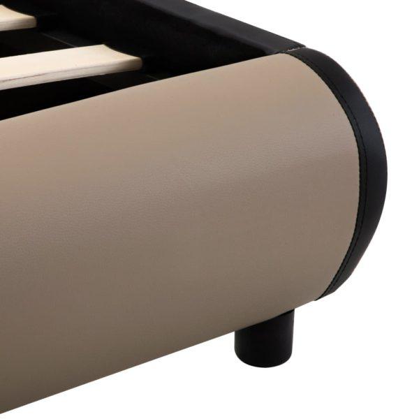Bettgestell Schubladen Cappuccino-Braun Kunstleder 160x200cm