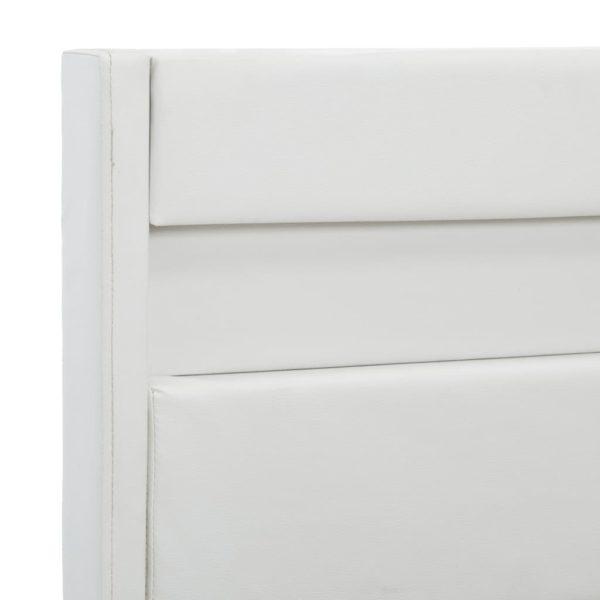 Bettgestell mit LED Weiß Kunstleder 100 x 200 cm