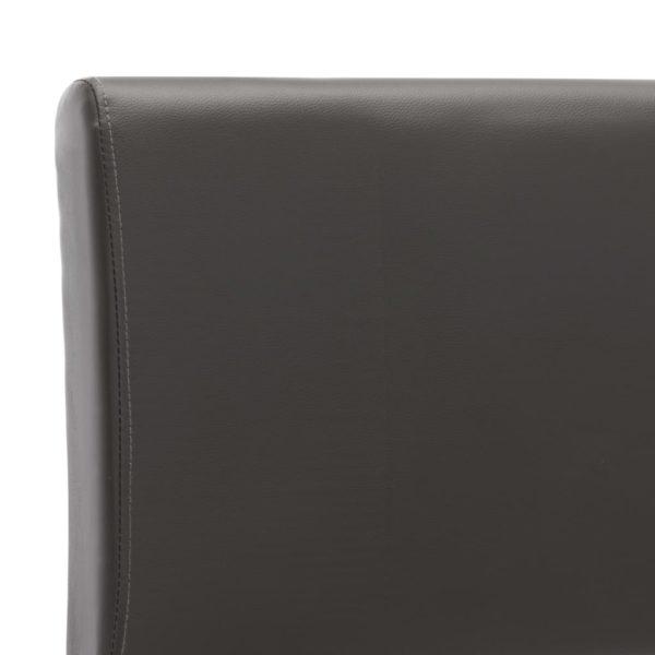 Bettgestell Anthrazitgrau Kunstleder 120×200 cm
