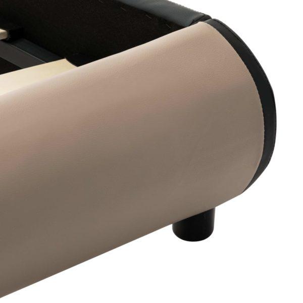 Bettgestell Cappuccino-Braun Kunstleder 90×200 cm