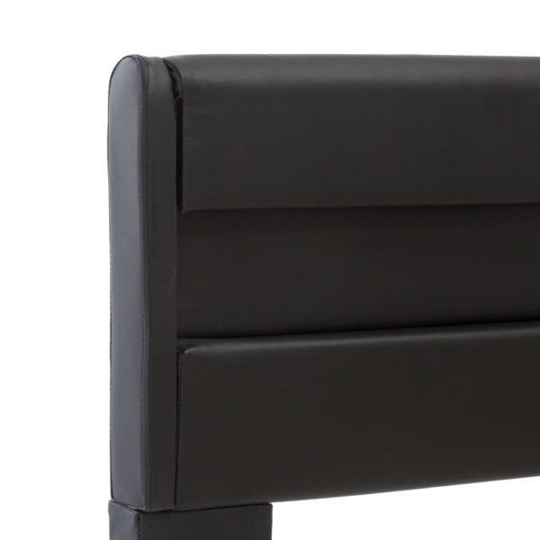 Bettgestell mit LED Schwarz Kunstleder 100 × 200 cm
