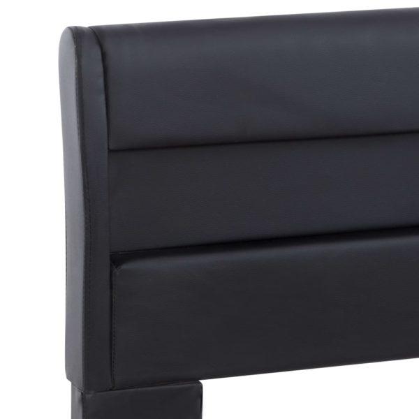 Bettgestell mit LED Schwarz Kunstleder 120 x 200 cm