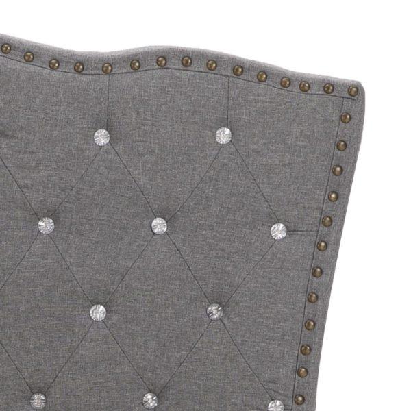Bett mit Matratze Hellgrau Stoff 160 x 200 cm