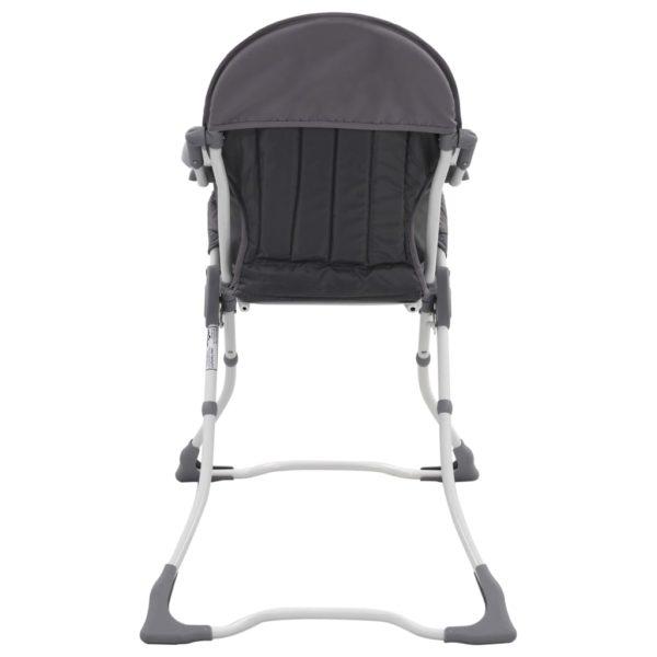 Baby-Hochstuhl Grau und Weiß