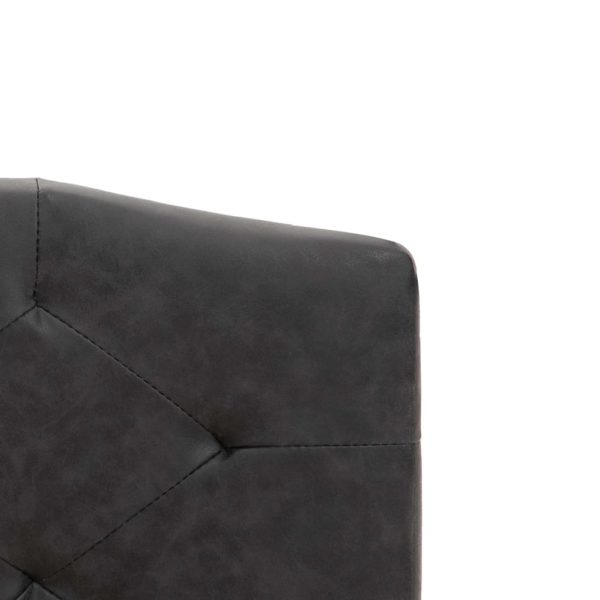 Bett mit Memory-Schaum-Matratze Schwarz Stoff 140×200 cm
