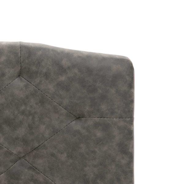 Bett mit Memory-Schaum-Matratze Dunkelgrau Stoff 140×200 cm