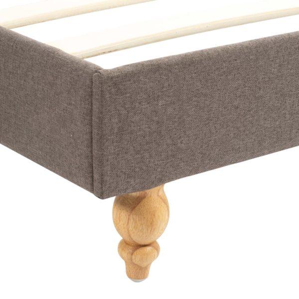 Bett mit Memory-Schaum-Matratze Taupe Stoff 90 x 200 cm