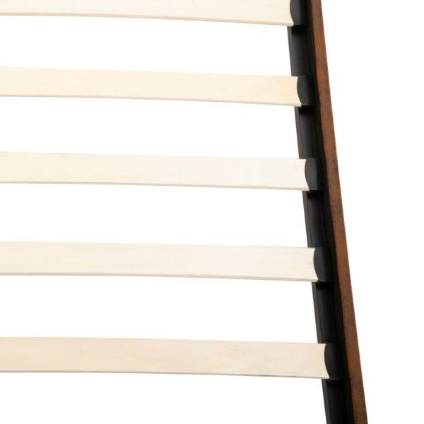 Bett mit Matratze Braun Wildleder-Optik 180 x 200 cm