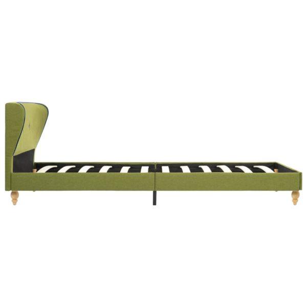 Bett mit Matratze Grün Stoff 90 x 200 cm