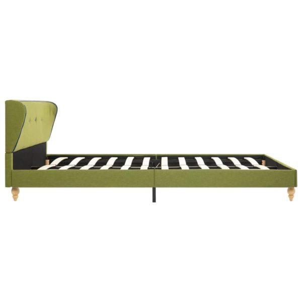Bett mit Matratze Grün Stoff 140 x 200 cm