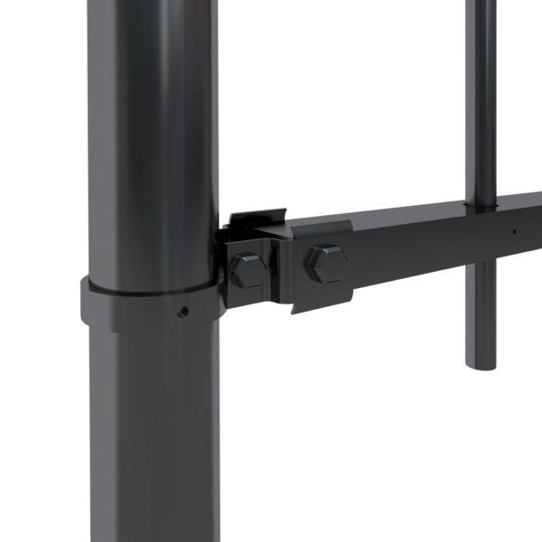 Gartenzaun mit Bügel-Design Stahl 15,3 x 1,2 m Schwarz