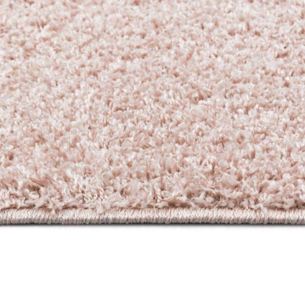 Hochflor-Teppich 160 x 230 cm Altrosa
