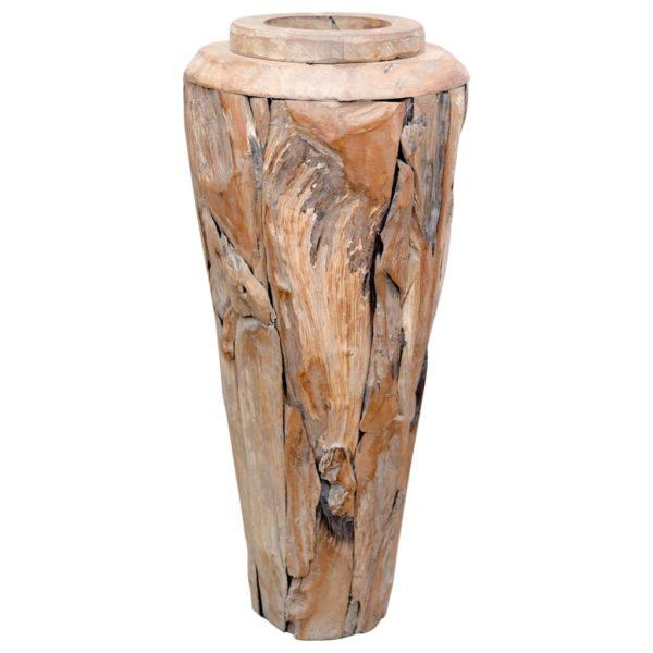 Deko-Vase 40 x 100 cm Massivholz Teak