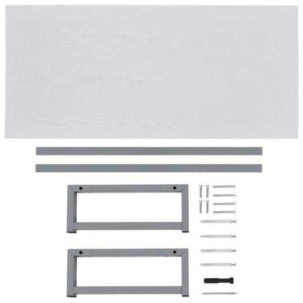 Badmöbel Weiß 90×40×16,3 cm