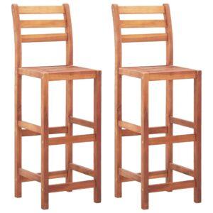 Barstühle 2 Stk. Massivholz Akazie
